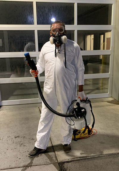 COVID19 Decontamination fogging by Prescott Maid to Order